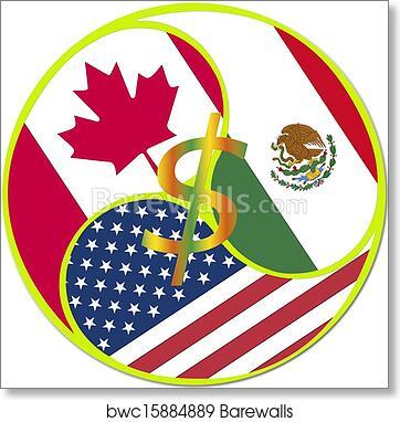 Art print of nafta symbol barewalls posters prints bwc15884889 art print of nafta symbol platinumwayz
