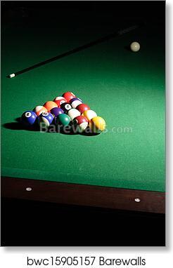 Art Print Of Pool Table Setup Barewalls Posters Prints - How to set up a pool table