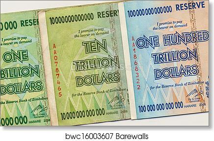 Banknotes Of Zimbabwe Art Print