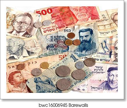 Art Print Of Old Israeli Currency