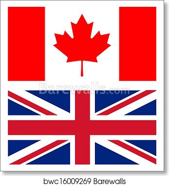 Art Print Of Union Jack And Canadian Flag Barewalls Posters
