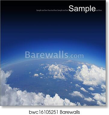 Curvature of the Earth, aerial shot art print poster