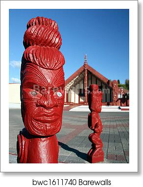 maori new zealand wood carving wall art