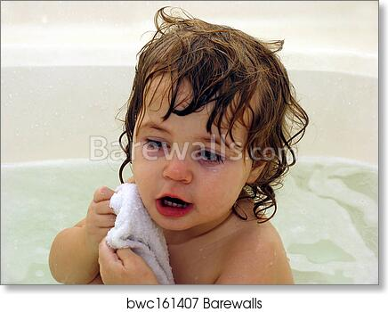 Art Print of Toddler baby bath | Barewalls Posters & Prints | bwc161407
