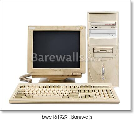 Art Print of Old PC set | Barewalls Posters & Prints | bwc1619291