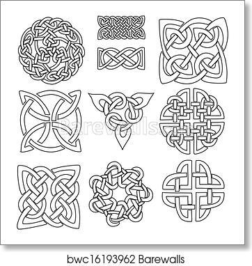art print of celtic symbols barewalls posters prints bwc16193962