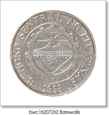 Art Print Of 1 Philippine Peso Coin