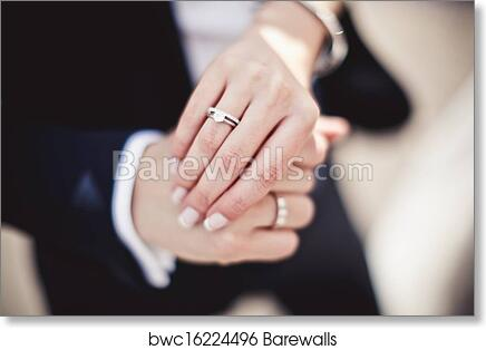 Holding Hands With Wedding Rings Art Print Barewalls Posters
