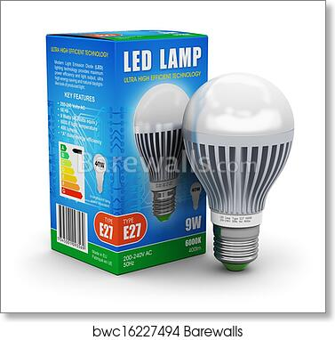 Led Lamp With Package Box Art Print