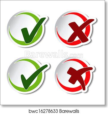 Art Print Of Vector Circular Check Mark Symbols Barewalls Posters