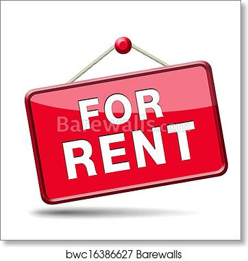 For Rent Sign Art Print