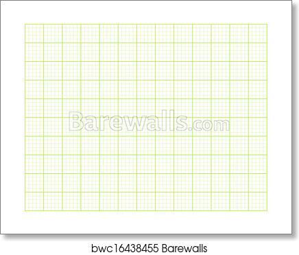 art print of green square graph paper barewalls posters prints