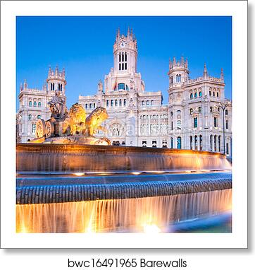 Plaza De Cibeles Madrid Spain Art Print Poster