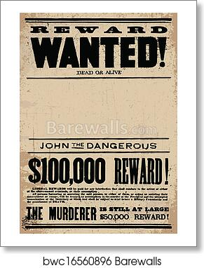 21c0216eb434fd Vector Western Wanted Reward Poster Template