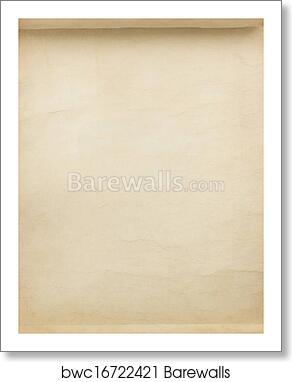 art print of parchment scroll as background barewalls posters