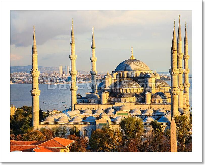 Blue Mosque In Istanbul Art Canvas Print Poster Wall Art Home Decor C Ebay