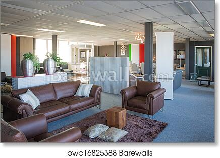 Art Print Of Showroom Of Modern And Luxury Furniture Store