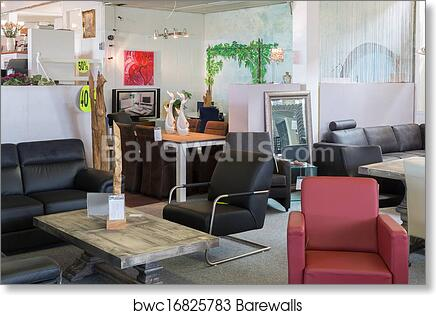 Showroom Of Modern Luxury Furniture Store Art Print Barewalls