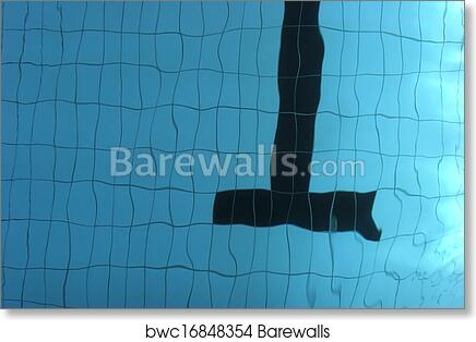 Empty swimming pool art print poster