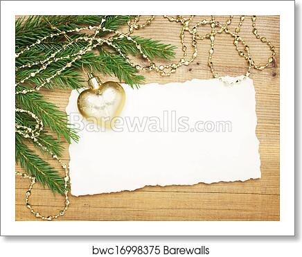 Christmas Background Blank Old Pape Art Print Poster