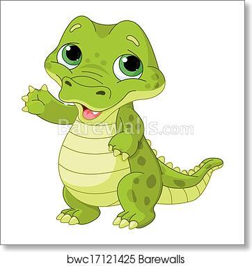 Art Print Of Baby Alligator Barewalls Posters Prints Bwc17121425