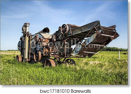 Steam Tractor /& Thresher.. Vintage Photo Print 8x10 Antique Farming ..