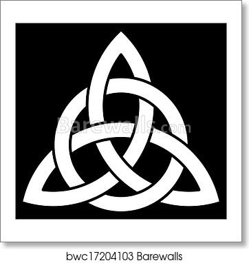 Art Print Of Beautiful Celtic Trinity Knot Barewalls Posters