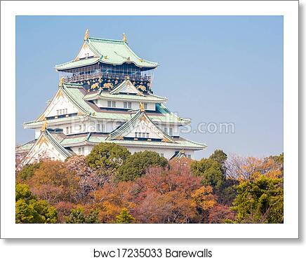 Osaka Castle Art Print Barewalls Posters Prints Bwc17235033