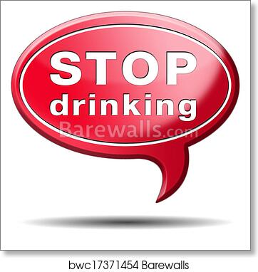 Stop drinking art print poster