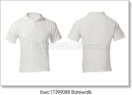 Art Print Of Mens Blank White Polo Shirt Template