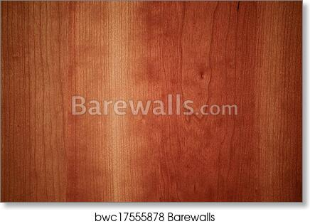 Art Print Of Cherry Wood Flooring Board