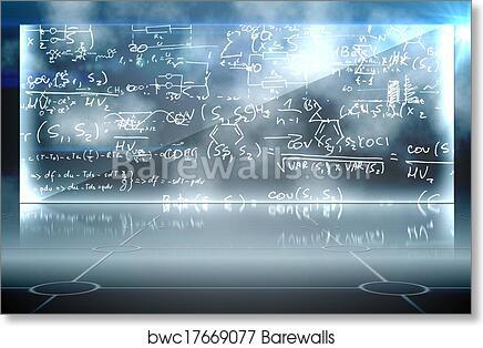 Art Print of Math equation background | Barewalls Posters & Prints ...