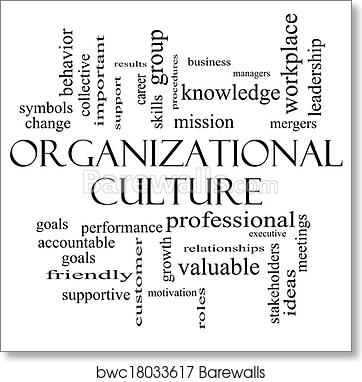Art Print Of Organizational Culture Word Cloud Concept In Black And