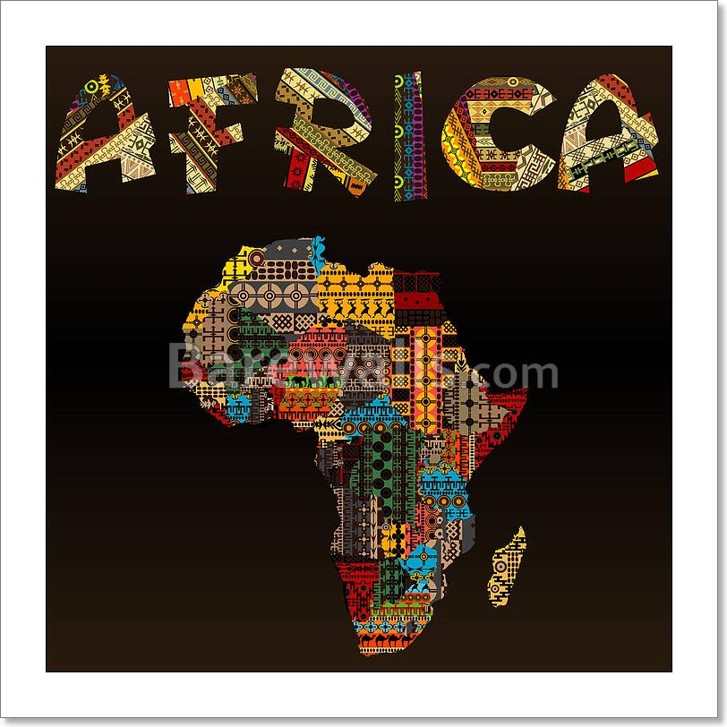 Africa Map With African Typography Art Print Home Decor Wall Art Poster - C  | eBay