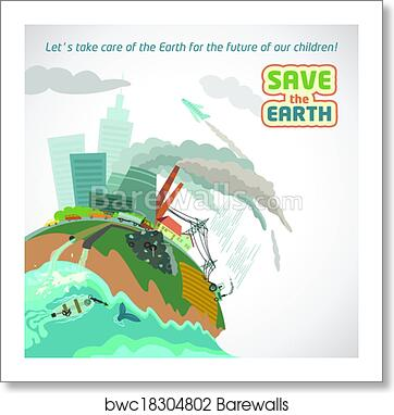 Art Print Of Big City Pollution Eco Poster Barewalls Posters