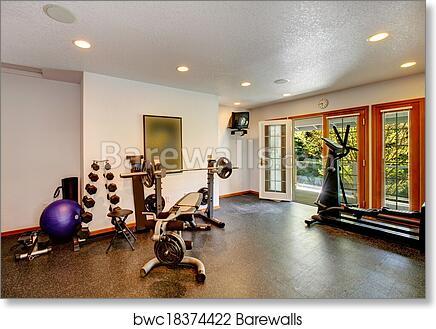 Home gym interior art print barewalls posters prints