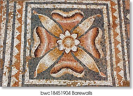 art print of ancient greek mosaic barewalls posters prints