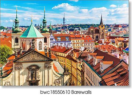 Old Town In Prague Czech Republic Art Print Home Decor Wall Art Poster