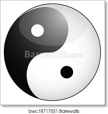 Art Print Of Yin Yang Symbol Barewalls Posters Prints Bwc18717551