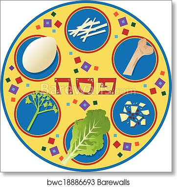Art Print Of Passover Plate Barewalls Posters Prints Bwc18886693