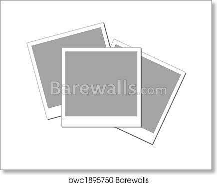 Art Print of Isolated blank polaroid frames | Barewalls Posters ...
