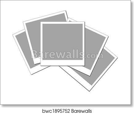 Art Print of Isolated blank polaroid frames | Barewalls Posters ...