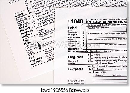 Art Print Of 1040 Tax Form Usa Barewalls Posters Prints