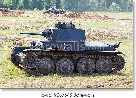 WW2 German Panzer 38 (t) light tank art print poster