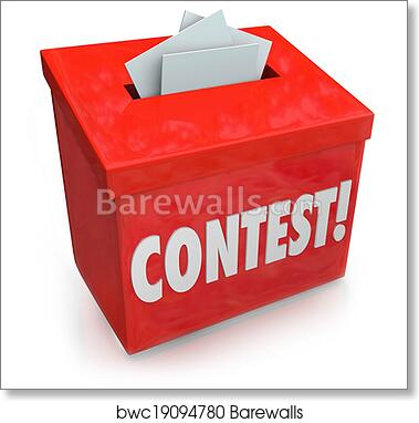art print of contest entry form box enter win drawing raffle prize