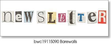 Art print of newsletter cutout newspaper letters barewalls art print of newsletter cutout newspaper letters spiritdancerdesigns Gallery