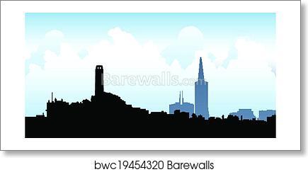 art print of san francisco skyline barewalls posters prints