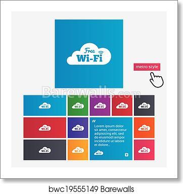 Art Print Of Free Wifi Sign Wifi Symbol Wireless Network