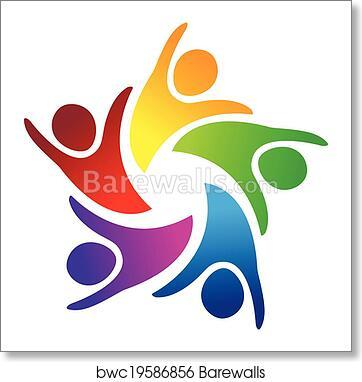 Art Print Of Teamwork Unity People Logo Barewalls Posters Prints