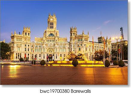 Plaza De La Cibeles Madrid Art Print Poster